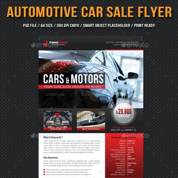 Automotive Car Sale Rental Flyer V03