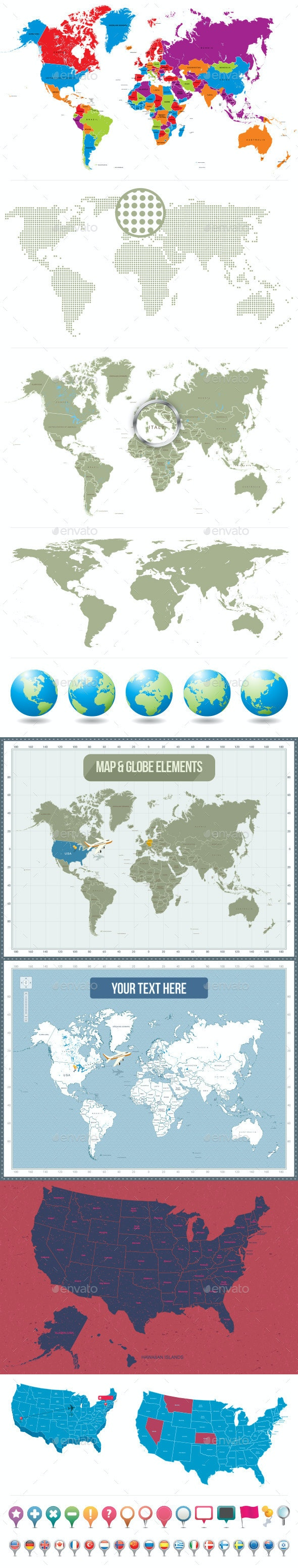 World Maps & Globes - Miscellaneous Conceptual