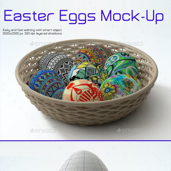 Easter Eggs Mock-up