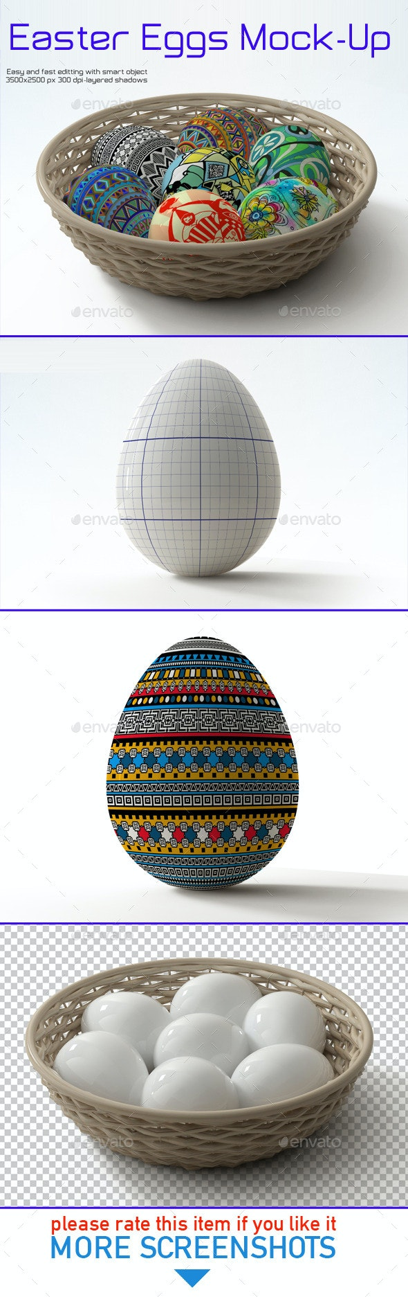 Easter Eggs Mock-up - Product Mock-Ups Graphics