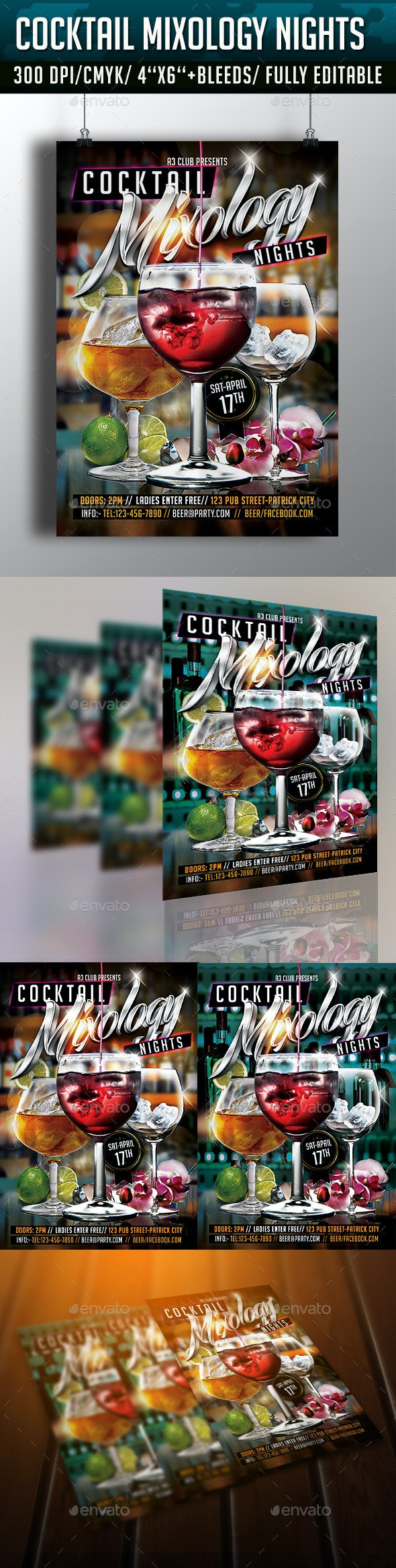 Cocktail Mixology Nights Flyer  - Clubs & Parties Events