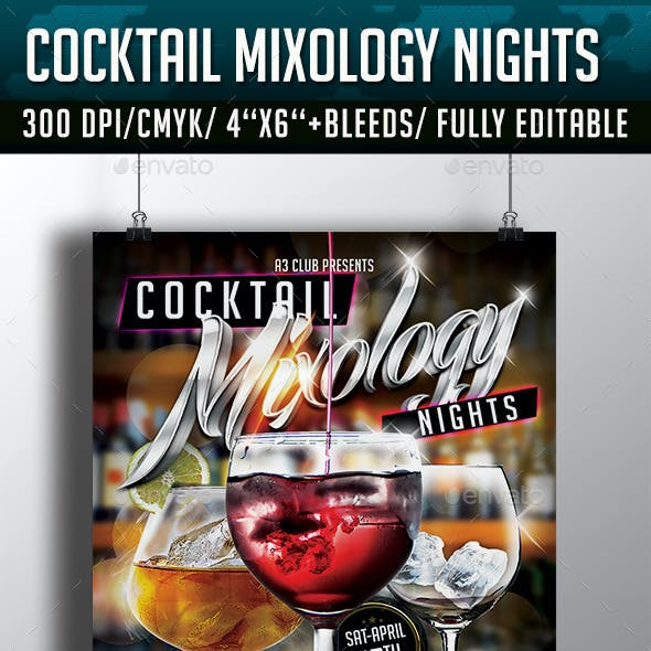 Cocktail Mixology Nights Flyer