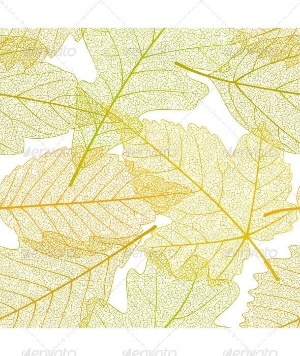 Seamless autumn leaves pattern - Patterns Decorative