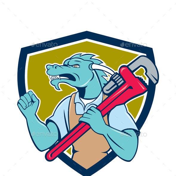 Dragon Plumber Monkey Wrench Fist Pump Shield