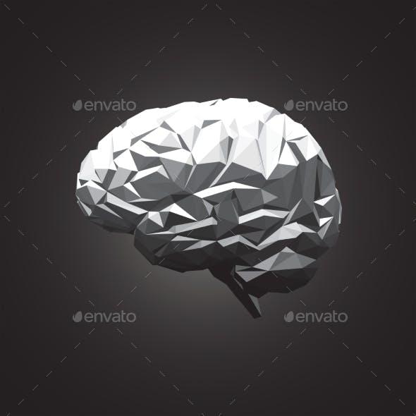 Paper Abstract Human Brain on Dark Background