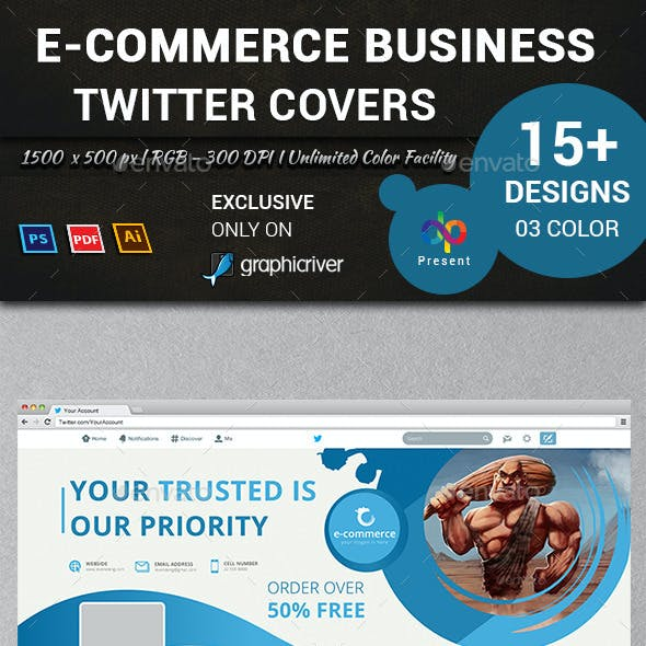 E-Commerce Business Twitter Covers
