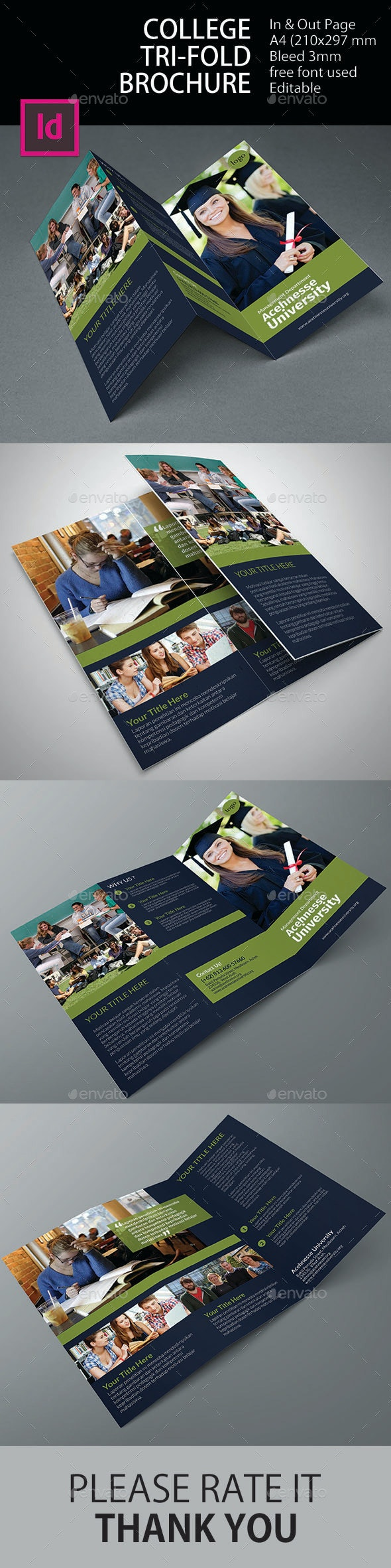 College Tri-Fold Brochure - Informational Brochures