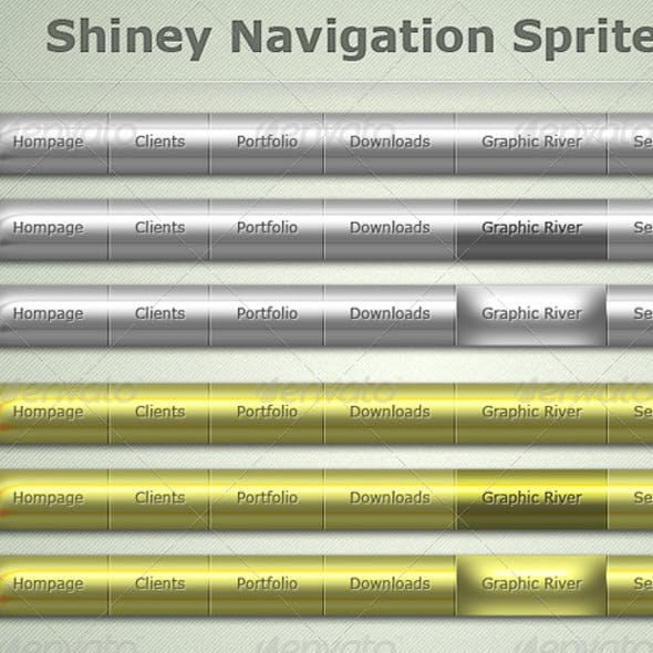 Silver & Gold Shiney Navigation Bars