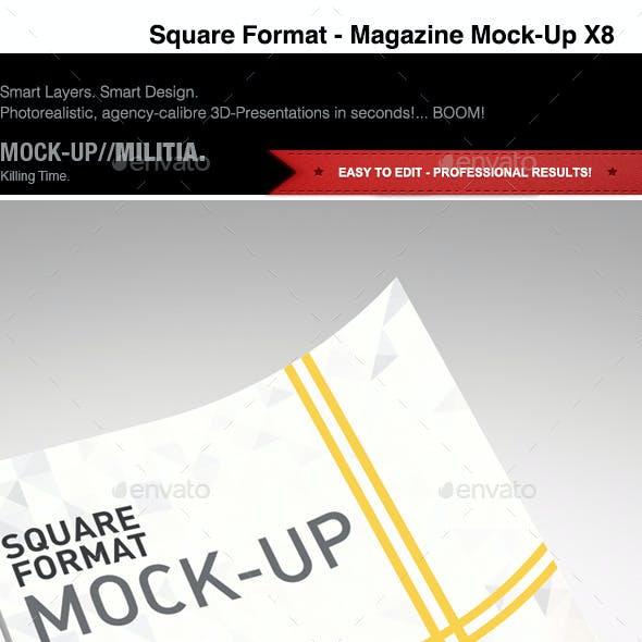 Square | Magazine | Brochure | Booklet | Mock-Up
