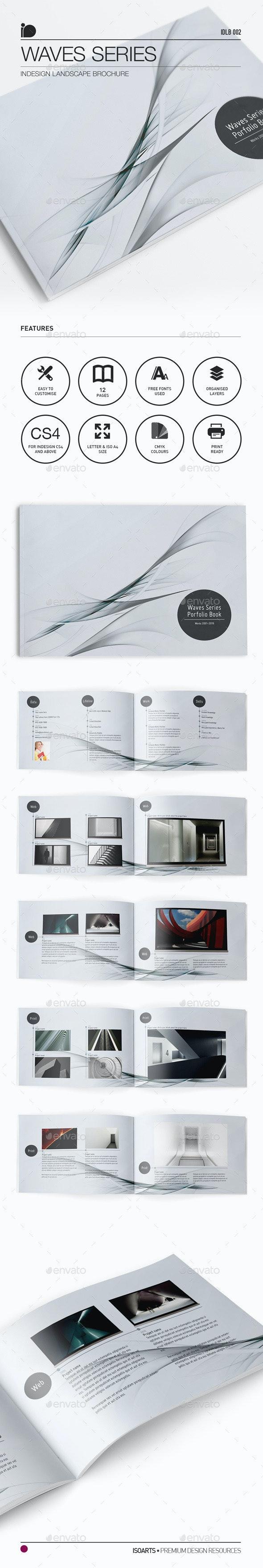 Landscape Brochure • Waves Series - Portfolio Brochures