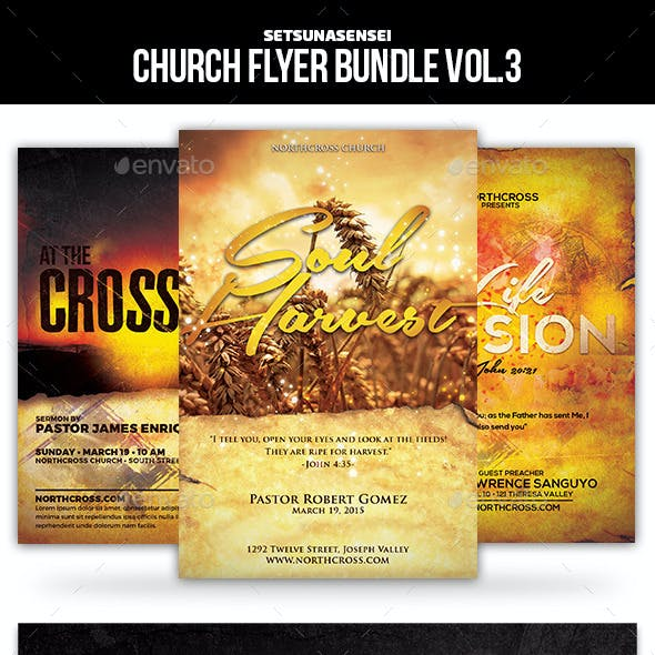 Church Flyer Bundle Vol. 3