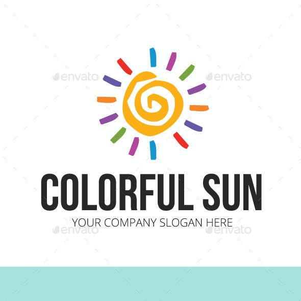 Colorful Sun Logo Template