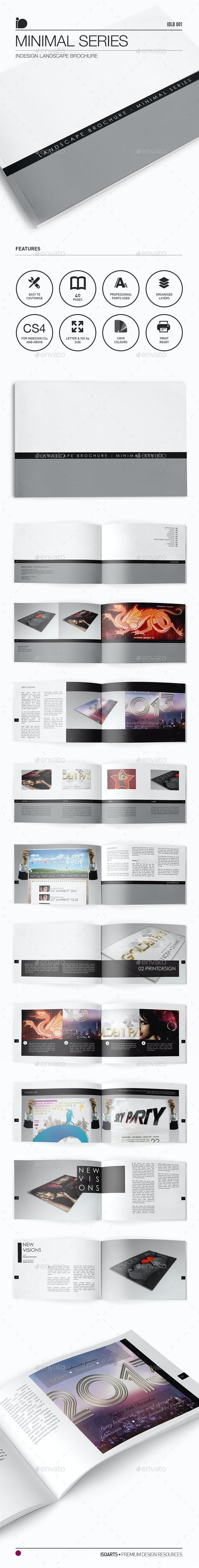 Landscape Brochure • Minimal Series - Photo Albums Print Templates