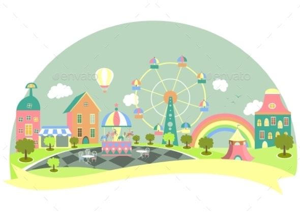 Amusement Park - Buildings Objects