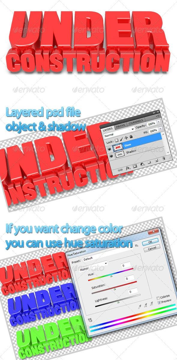 Under Construction - Miscellaneous 3D Renders