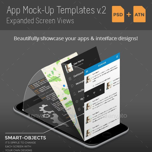 App Mock-Up Templates v2