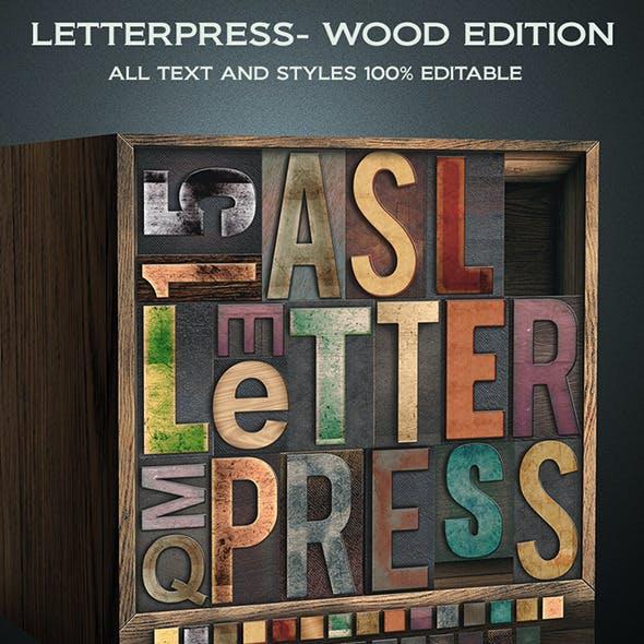 Letterpress - Wood Edition