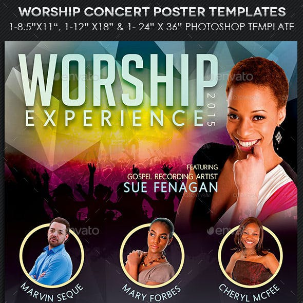 Worship Concert Poster Templates