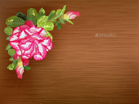 Flower on Texture Background - Backgrounds Decorative
