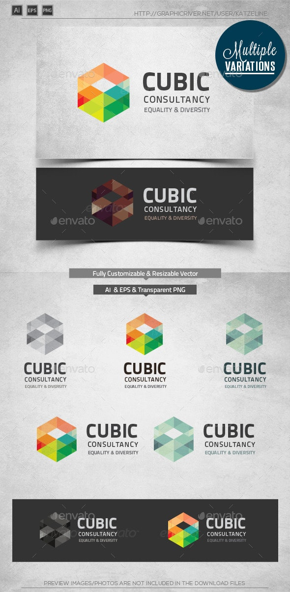 Corporate Logo - Cubic - Objects Logo Templates