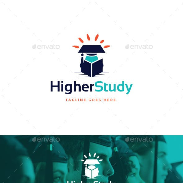 Higher Study Logo Template