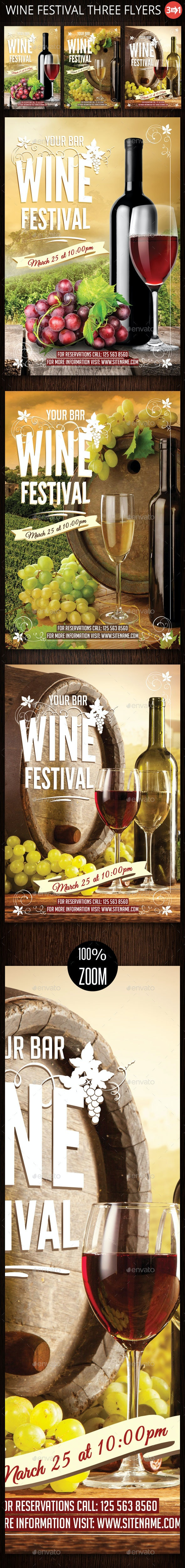 Wine - Events Flyers