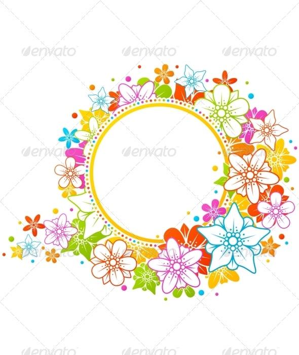 Floral colorful frame - Borders Decorative
