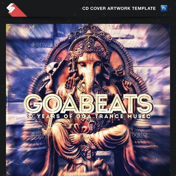 Goa Beats - Psytrance Album CD Cover Template