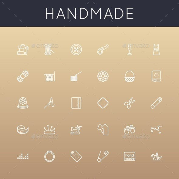 Vector Handmade Line Icons
