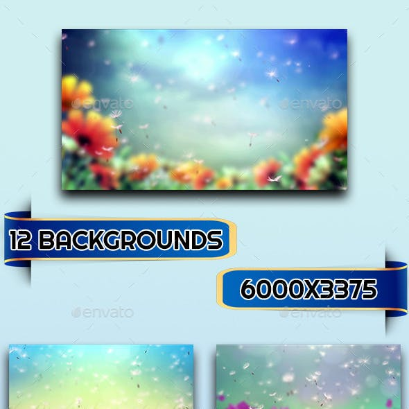 12 Dandelion Backgrounds