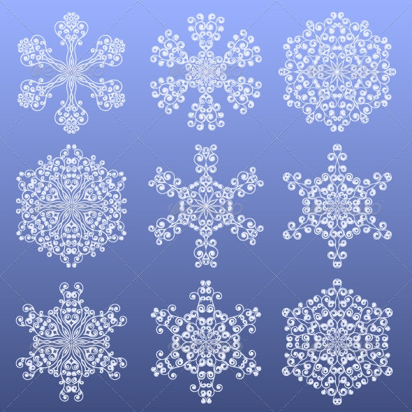 Set of a snowflakes - Christmas Seasons/Holidays