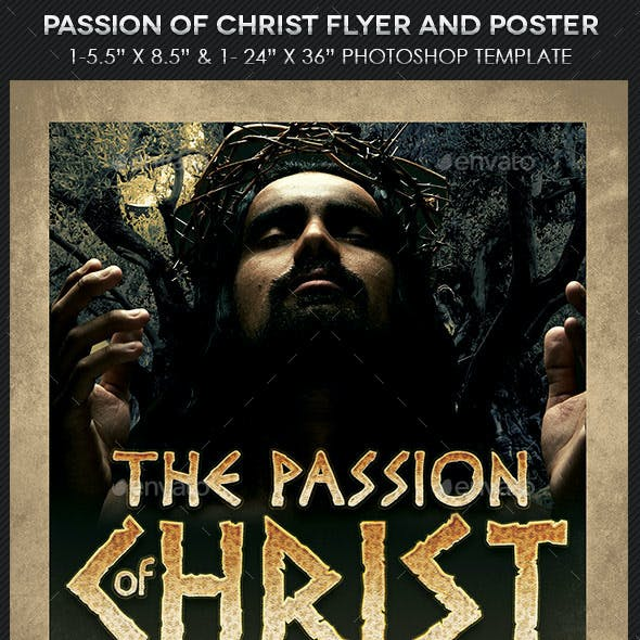 Christ Passion Flyer Poster Template