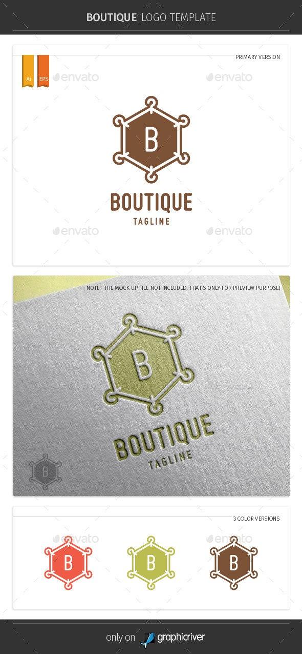 Boutique Logo Template - Symbols Logo Templates