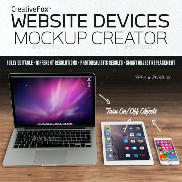 Website Devices Mockup Creator