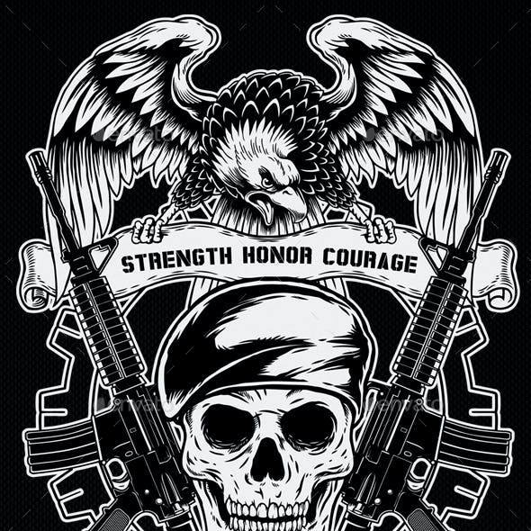 2 T-Shirt Template Military Theme