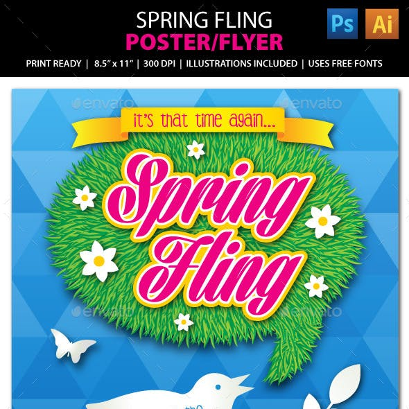 Spring Fling Festival Event Poster, Flyer or Ad