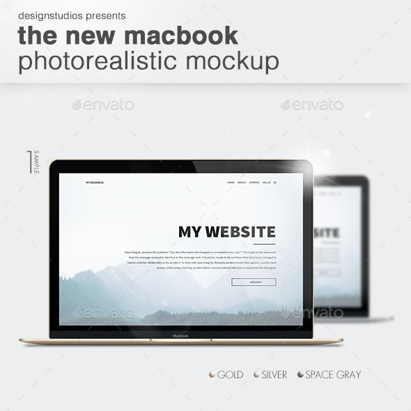 The New MacBook Photorealistic Mockup