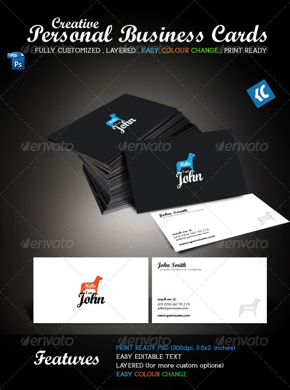 Creative Personal Business Cards - Creative Business Cards