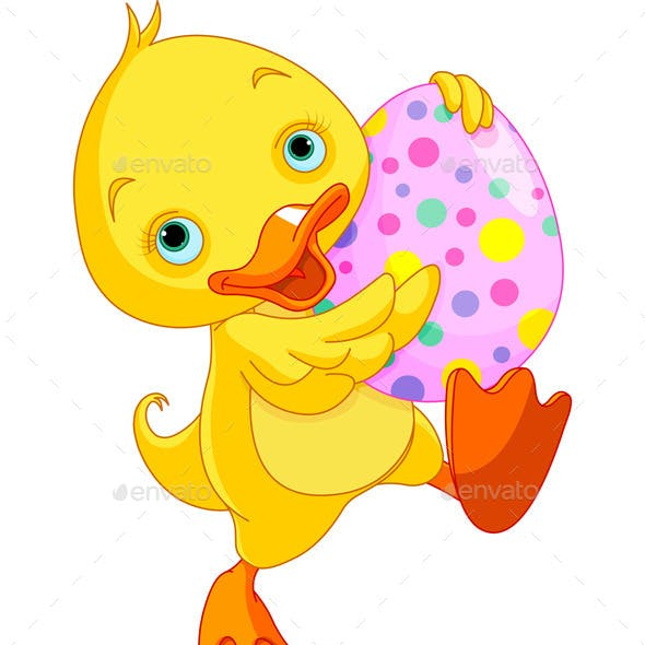 Easter Duckling Carry Egg