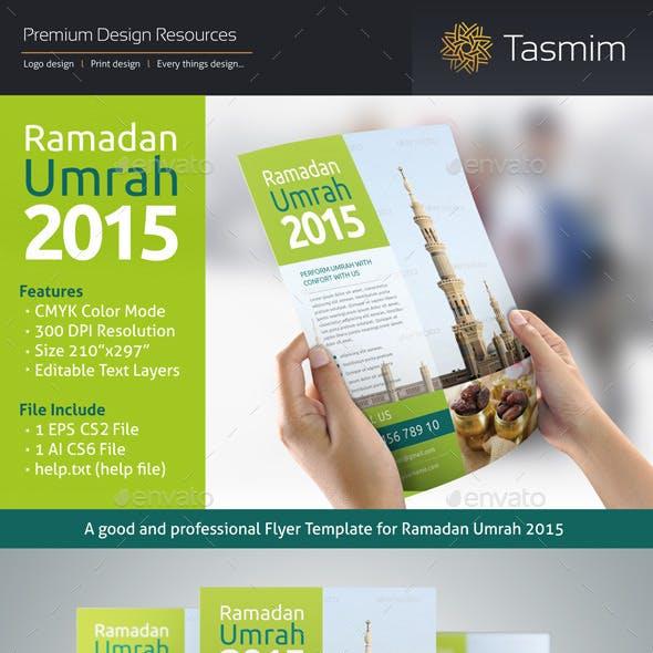 Ramadan Umrah 2015 Flyer Template