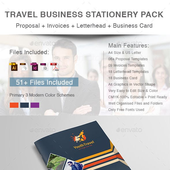 Travel Business Stationery Pack