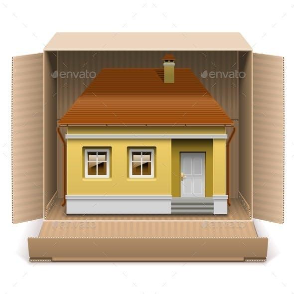 House in Carton Box