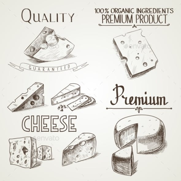 Cheese Sketch Icons