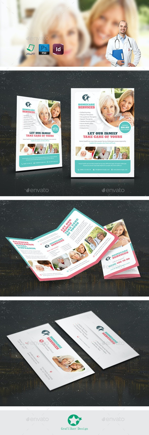 Home Care  Bundle Templates - Corporate Flyers