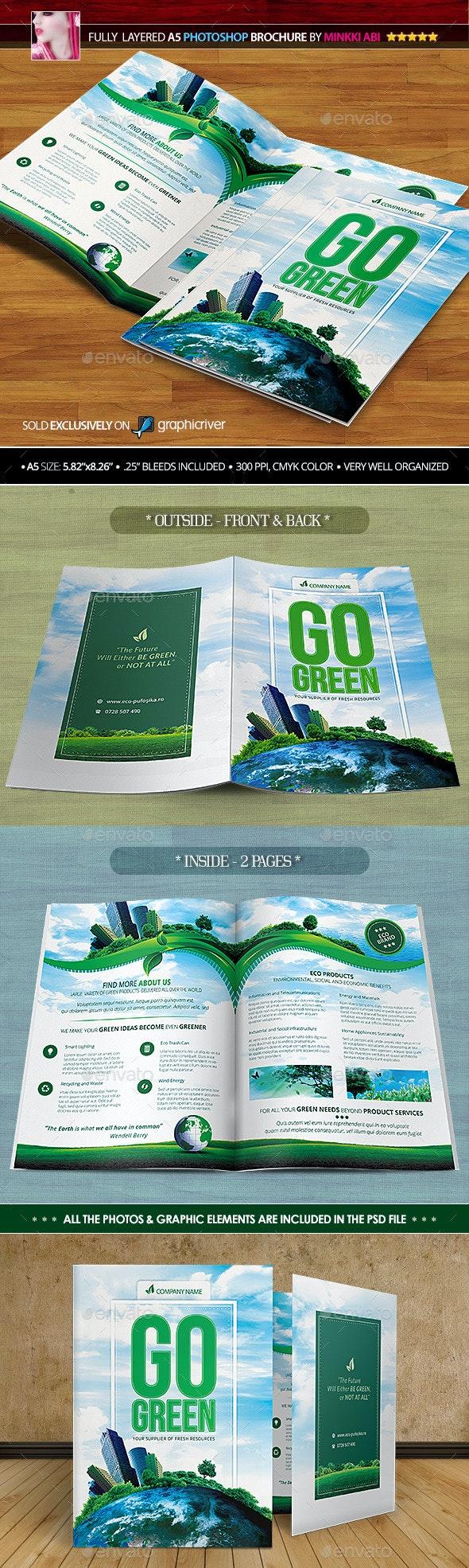 Go Green Bi-Fold Brochure - Brochures Print Templates