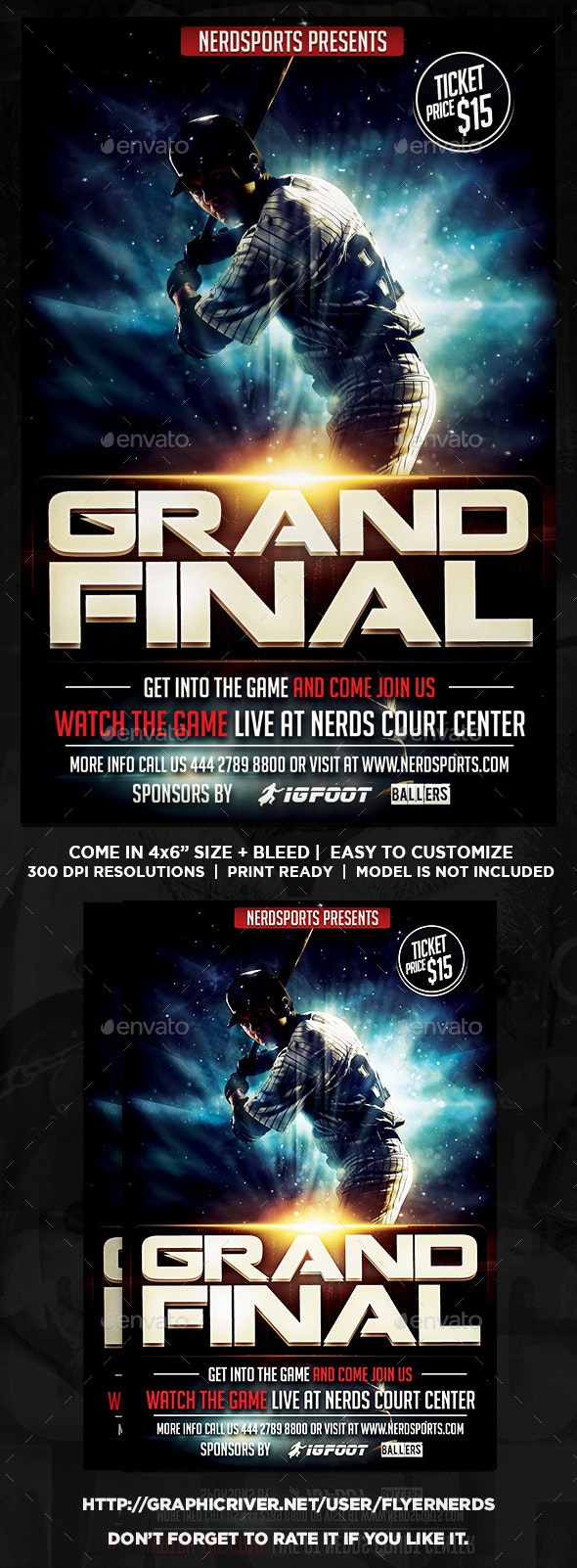 The Grand Final Baseball Sports Flyer - Sports Events