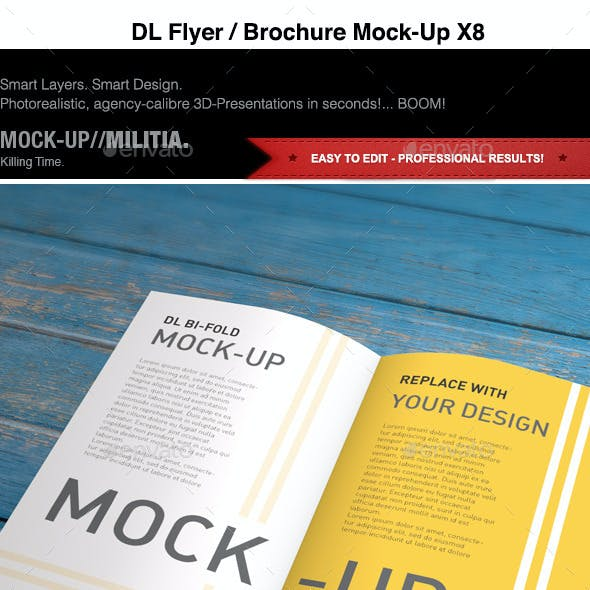 DL | Flyer | Brochure | Leaflet | Bi-Fold Mock-Up