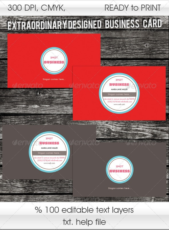 Designed  Business Card  - Retro/Vintage Business Cards