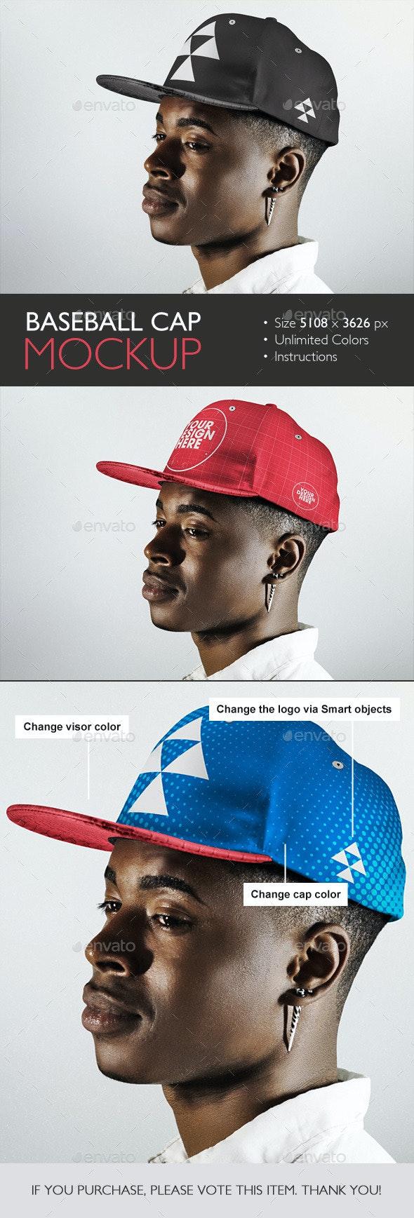 Baseball Cap Mockup - Product Mock-Ups Graphics