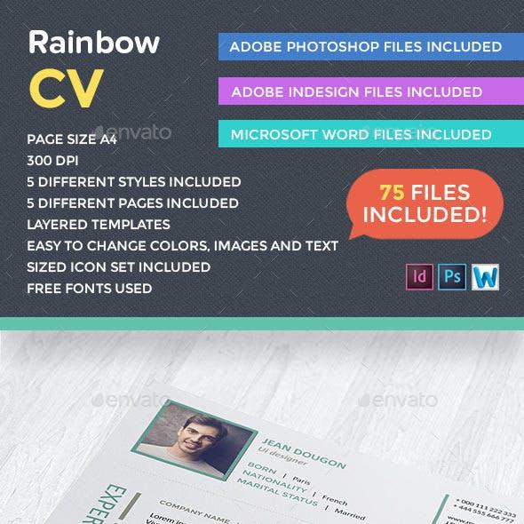 Rainbow CV Creative Template